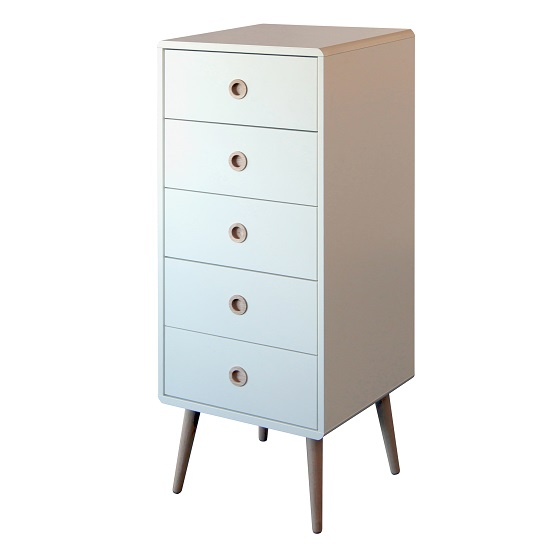 Best Walton Tall Chest of Drawers In White With Oak Legs And 5 white tall chest of drawers