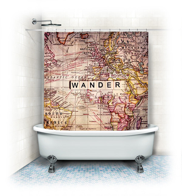 Best Wander Fabric Shower Curtain  unique fabric shower curtains