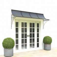 Best Wide door canopy with metal brackets patio door canopy