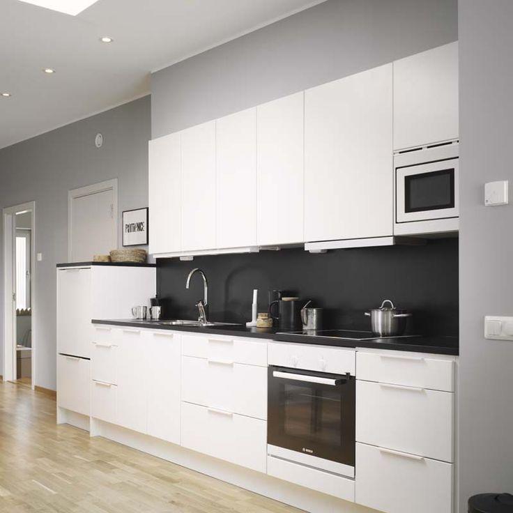 Awesome MINIMALISMO N RDICO. Modern White KitchensBlack KitchensWhite Kitchen  DesignsModern ... black and white modern kitchen ideas
