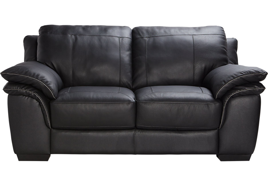 Awesome Click u0026 Drag to Zoom black leather loveseat