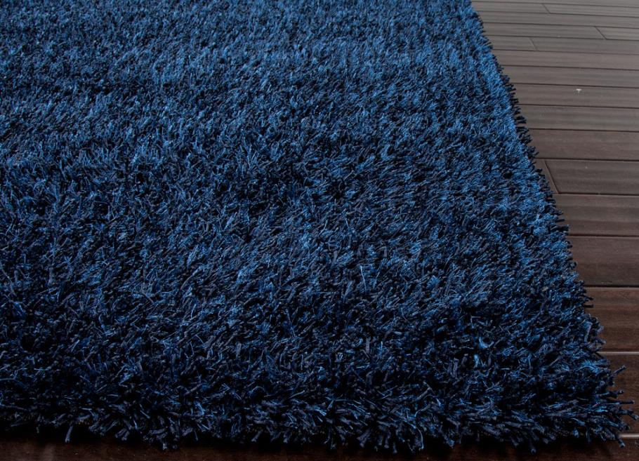 Popular Deep Blue Shag Rug | Little Crown Interiors blue shag rug