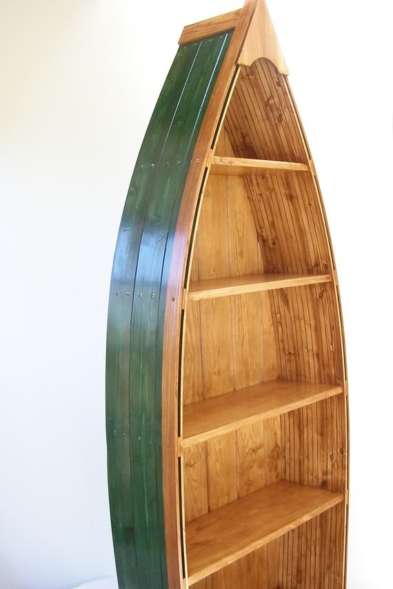 Beautiful boat shaped book shelf - Google Search boat shaped bookcase plans