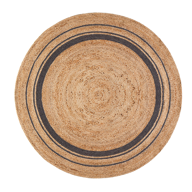 Cozy Laurel Foundry Modern Farmhouseu0026trade; Cheryl Mist Hand-Braided Tan/Black Area  Rug braided area rugs