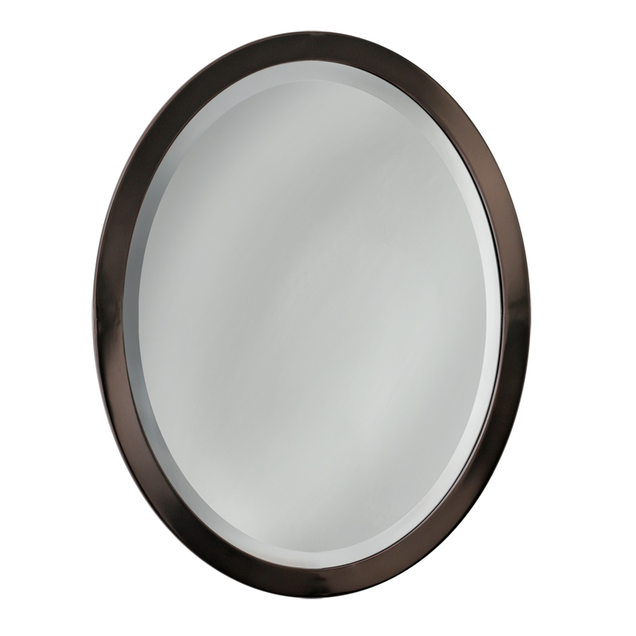 Chic allen + roth 23-in W x 29-in H Oil-Rubbed Bronze bronze oval mirrors bathroom