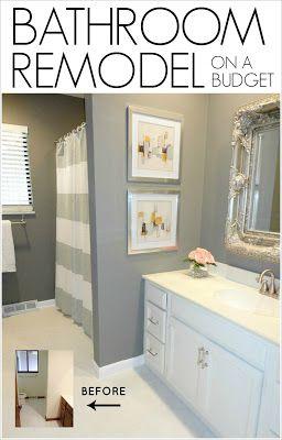 Cool DIY Bathroom Remodel on a Budget cheap bathroom remodel