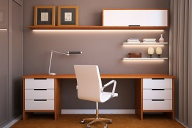 Chic 24 Minimalist Home Office Design Ideas For a Trendy Working Space small office space design ideas for home