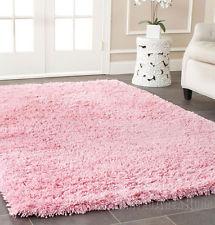 Chic 5x7 Area Rug Shaggy SHAG with SILK 2 inch Plus Thick u0026 Heavy pink fluffy rug