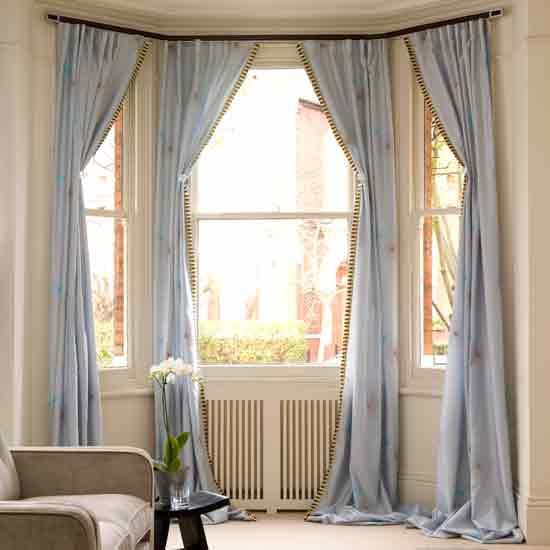 Chic 9 Creative Decorating Ideas For Bay Windows kitchen bay window curtains