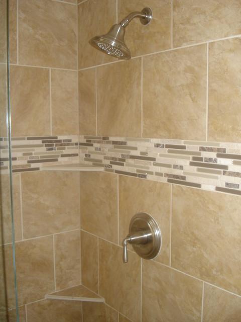 Chic 90u0027s Master bath shower remodel traditional-bathroom bathroom shower remodel