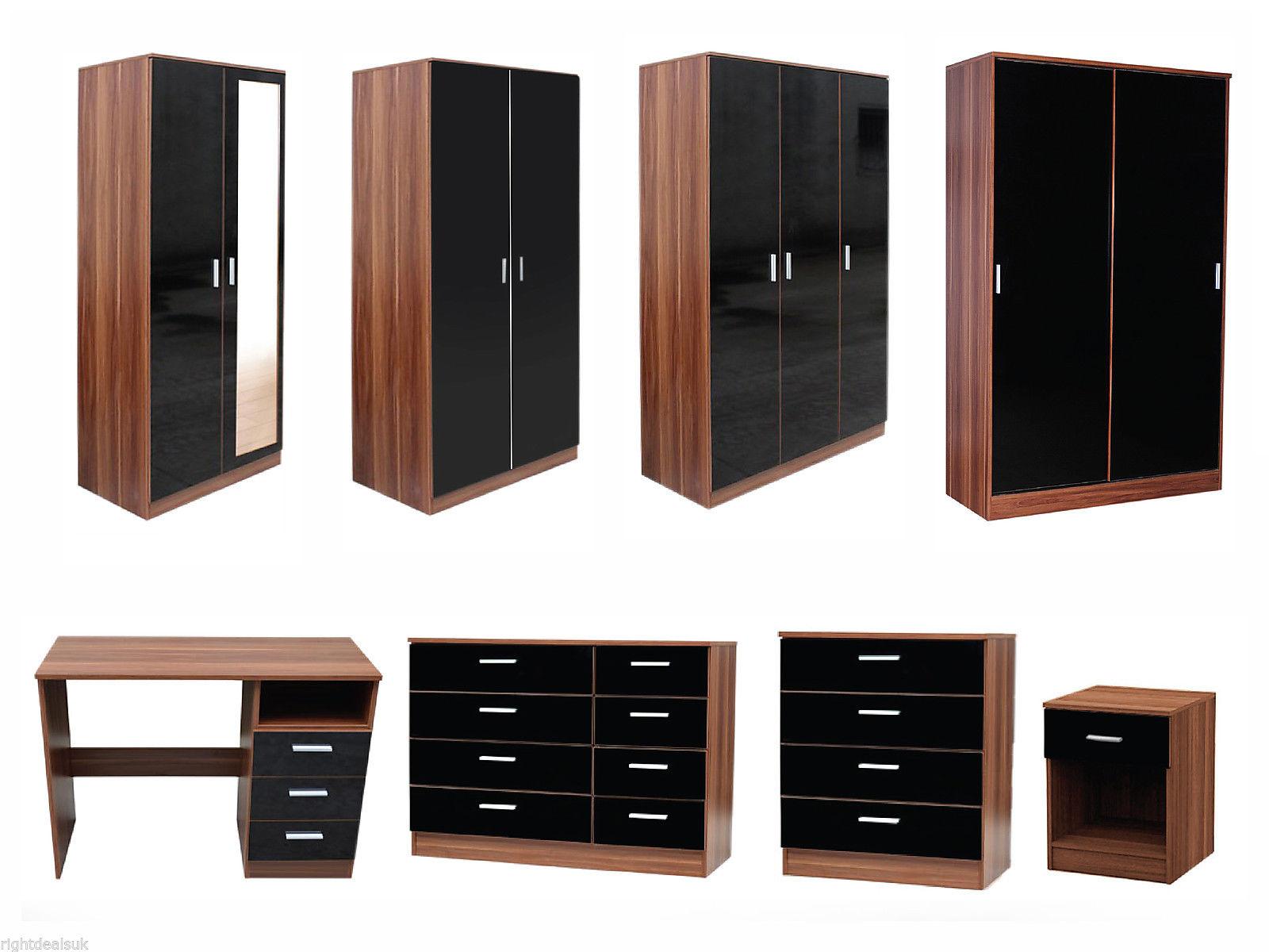 Chic Alpine High Gloss White Bedroom Furniture Best Ideas 2017 walnut black gloss bedroom furniture