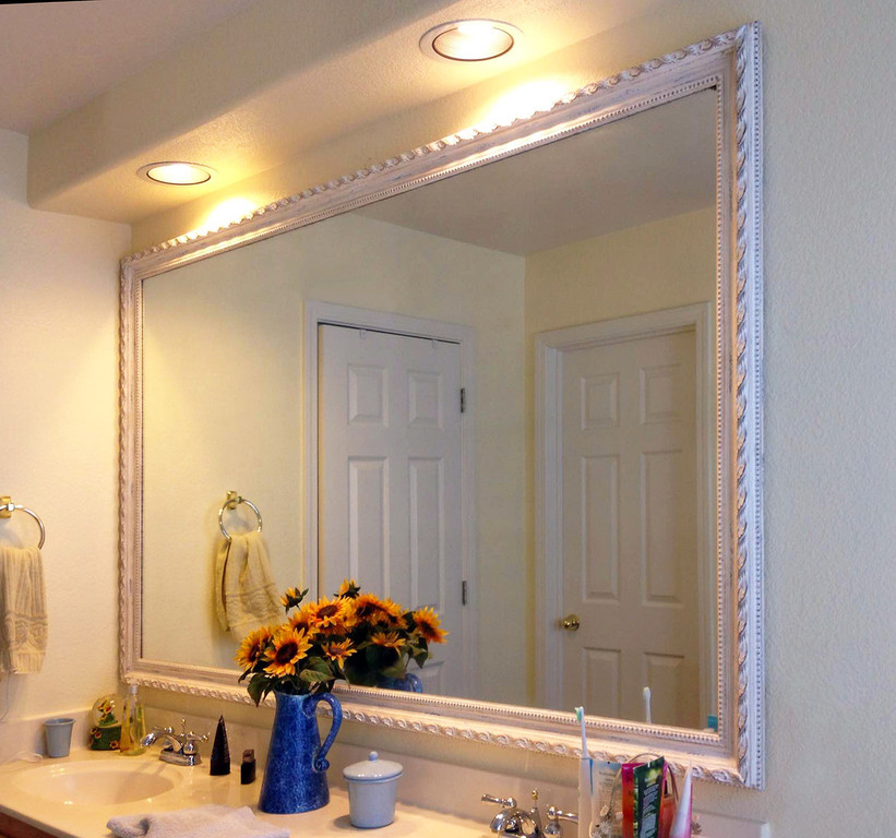 Chic bathroom vanity mirror framed bathroom vanity mirrors