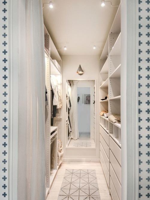 Chic Best Small Walk-In Closet Design Ideas u0026 Remodel Pictures | Houzz small walk in closet ideas