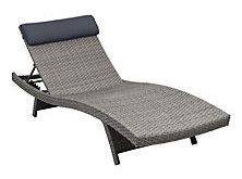 Chic Cavalier Gray Synthetic Wicker Patio Lounge Chair with Gray Cushion (2 pcs.) patio lounge chairs
