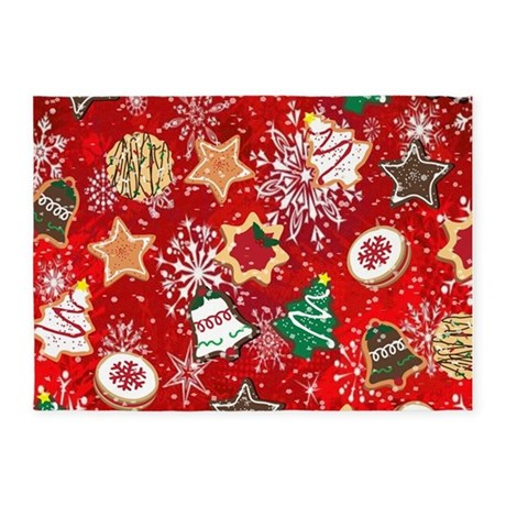 Chic Christmas Cookies 5u0027x7u0027Area Rug large christmas rugs