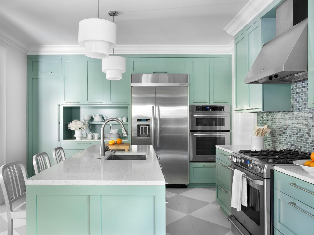 Chic Color Ideas for Painting Kitchen Cabinets kitchen cabinet paint color ideas