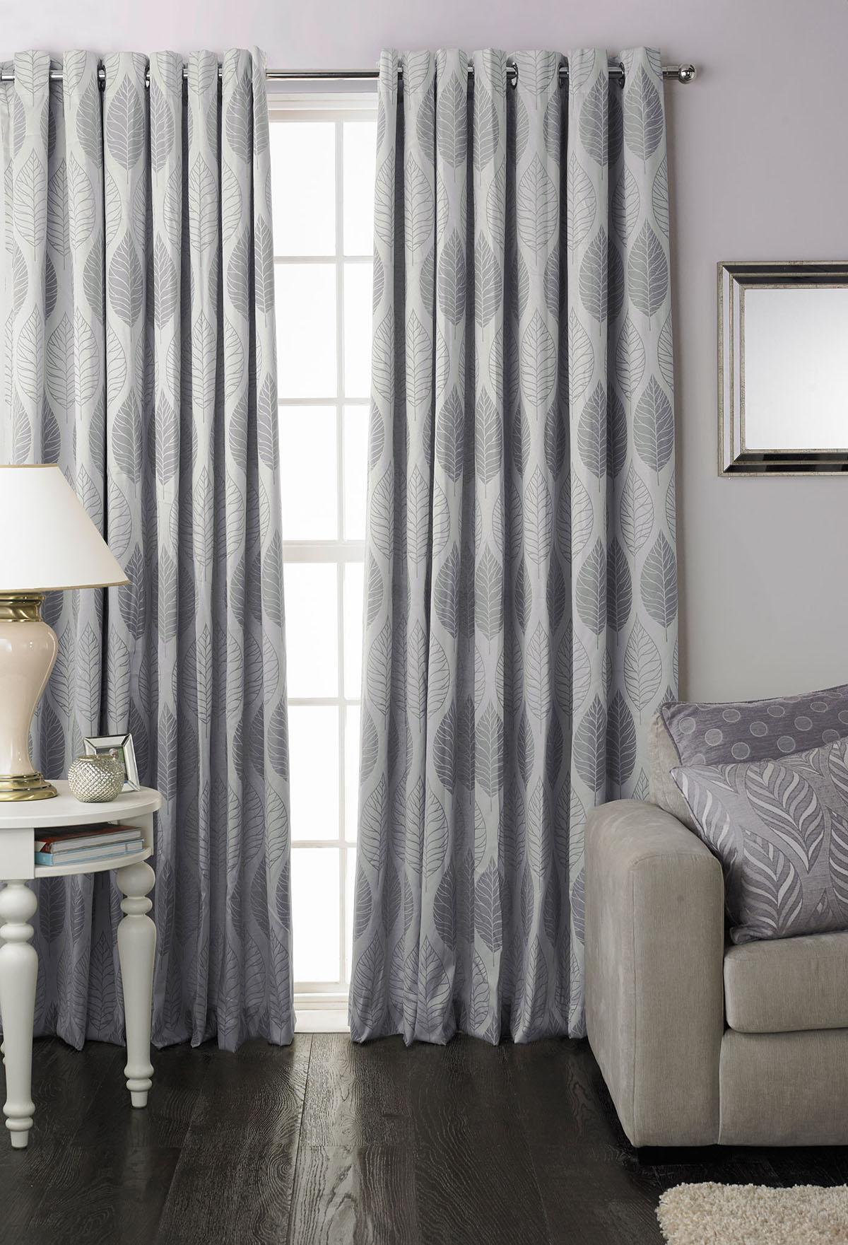 Chic Dalby Ready Made Eyelet Curtains silver eyelet curtains