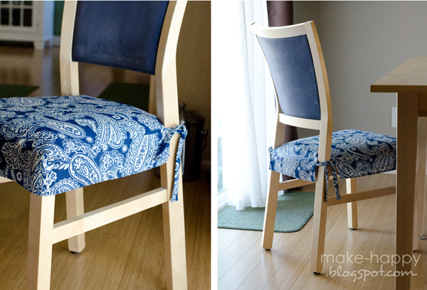 Chic DIY seat cushion covers. Need these to protect my chairs from a toddler dining room chair cushion covers
