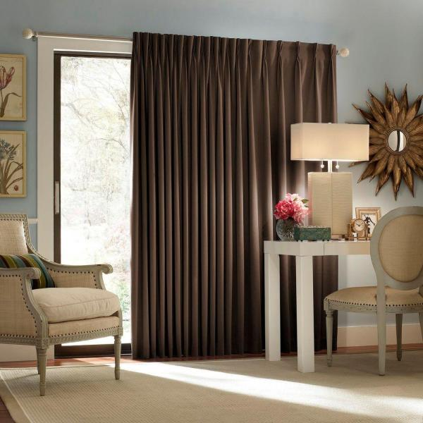 Chic Eclipse Thermal Blackout Patio Door 84 in. L Curtain Panel in patio door blackout curtains