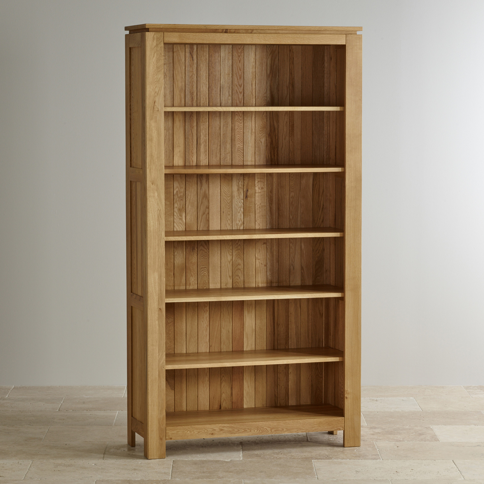 Chic Galway Natural Solid Oak Bookcase | Living Room Furniture solid oak bookcase