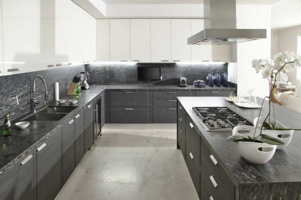 Chic gray-and-white-kitchen-designs-photo-of-good- grey and white kitchen designs