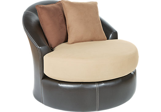 Chic Gregory Beige Small Swivel Chair small swivel armchair