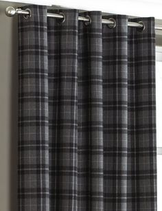 Chic Grey tartan wallpaper adding a Scottish theme, I think this is my grey tartan curtains