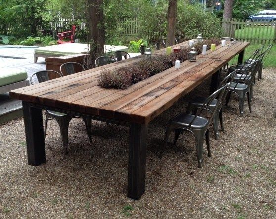 Chic Hardscapes Dou0027s and Donu0027ts : What makes your food taste better in outdoor wooden tables and benches