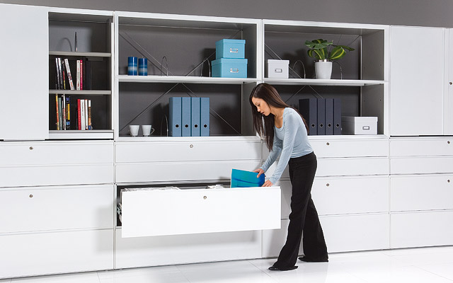 Chic Home Office Storage Furniture With fine Office Storage Solutions  Livingroompaintideas Net office storage solutions