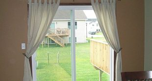 Chic Home Staging - curtains over patio door. Sliding ... patio sliding door curtains