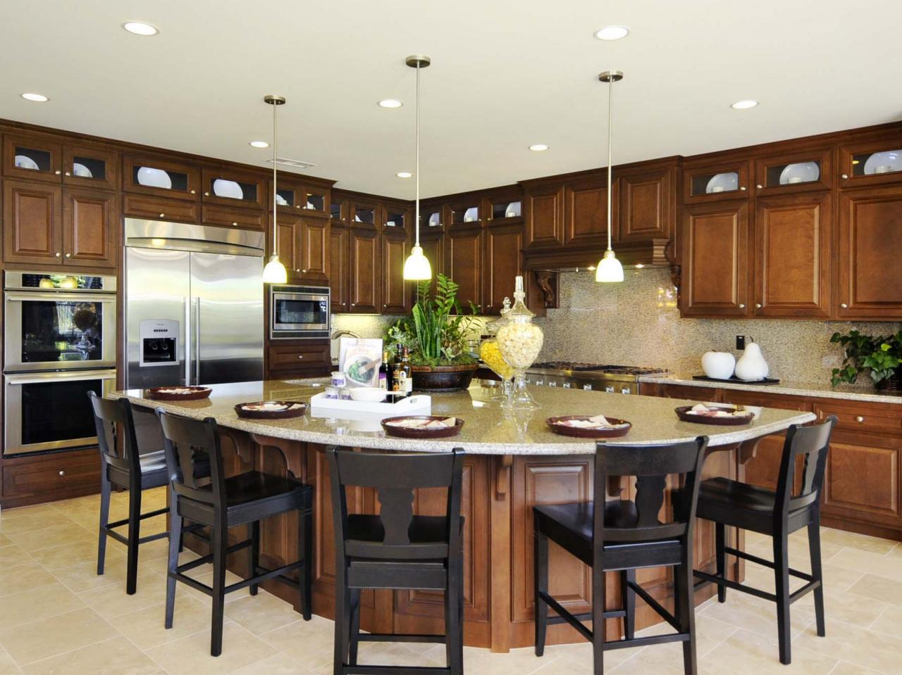 Chic Kitchen Island With a Breakfast Bar kitchen islands with breakfast bar