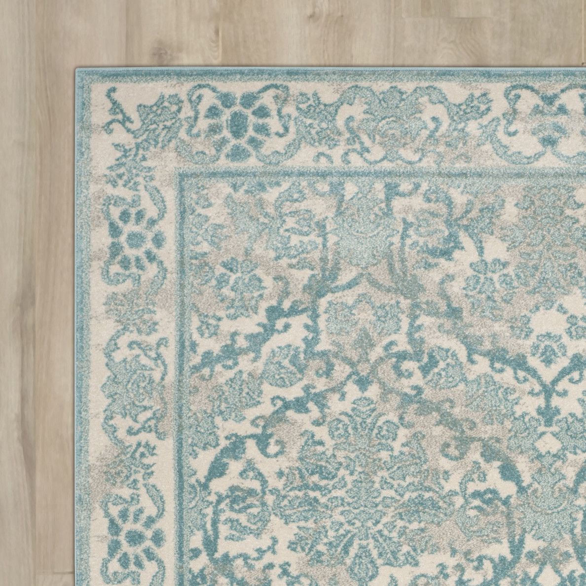 Chic Lark Manoru0026trade; Montelimar Ivory/Light Blue Area Rug light blue area rug