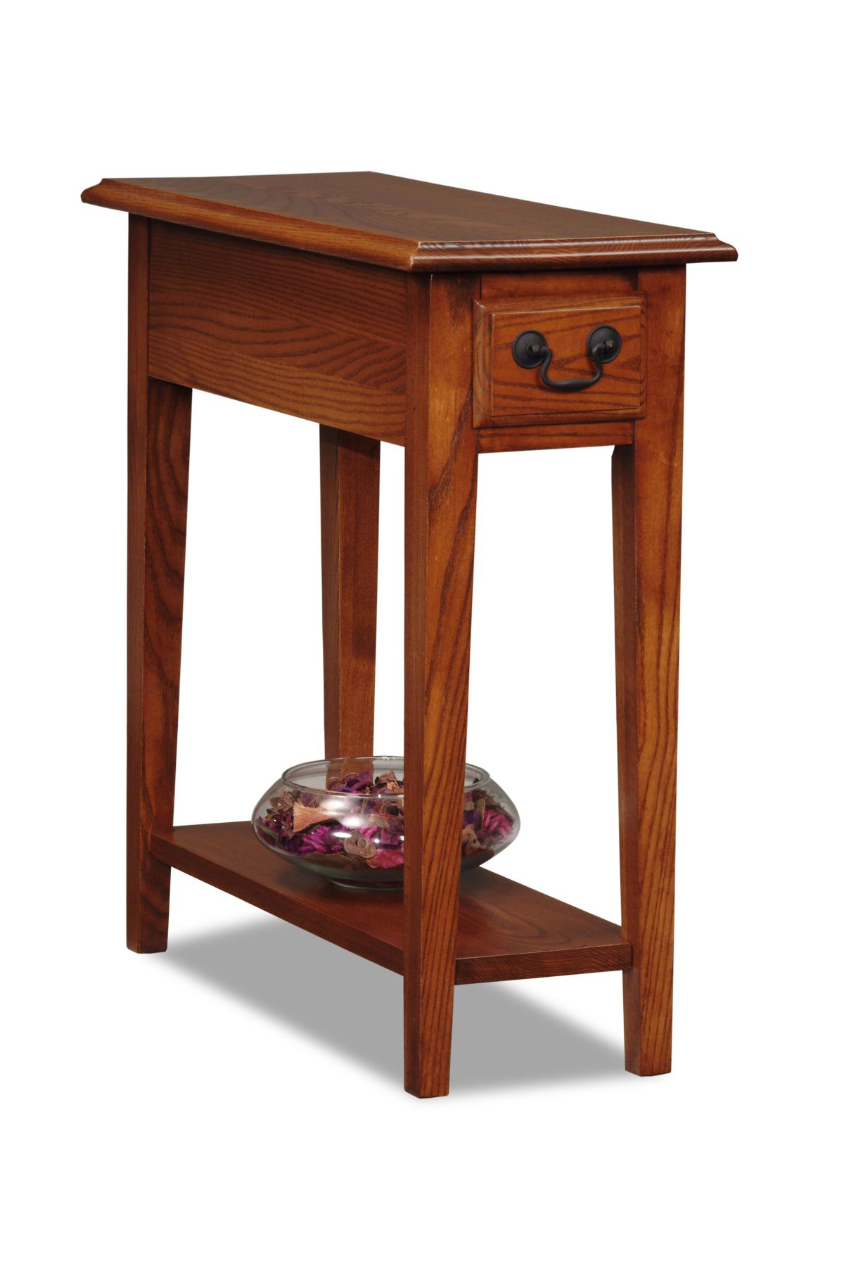 Chic Leick Chairside Small End Table-Medium finish - Home - Furniture - Living small end tables for living room