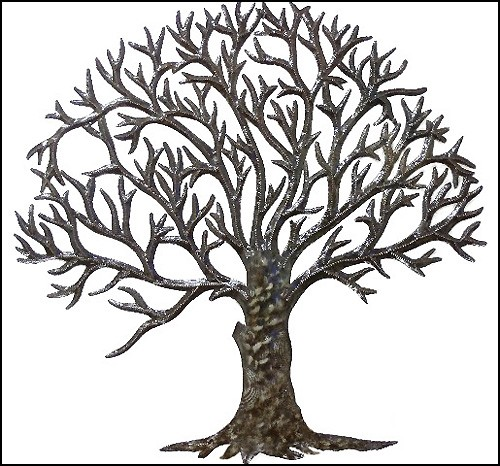Chic Metal Art - Tree Metal Art Wall Hanging - Metal Wall Art, metal tree wall decor