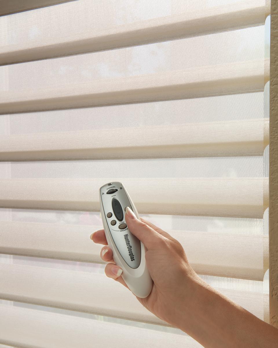 Chic Motorized Window Coverings motorized window shade
