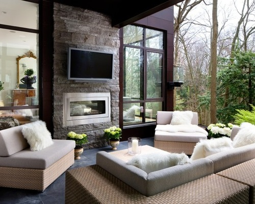 Chic SaveEmail indoor outdoor fireplace