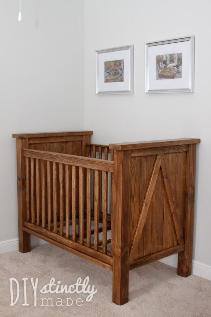 Chic Since we found out we were pregnant (maybe even before), we knew we rustic baby cribs