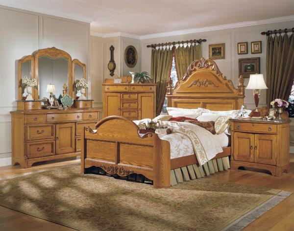 Chic THE FURNITURE :: Solid American Oak Bedroom Set, u0027Grandmau0027s Atticu0027  Collection oak bedroom furniture sets