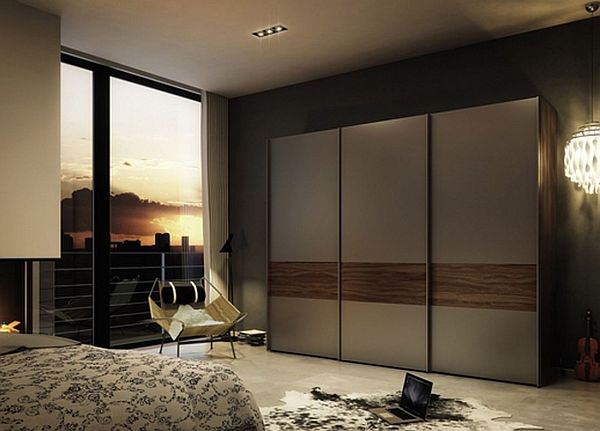 Chic The minimalist glass ... glass wardrobe designs for bedroom