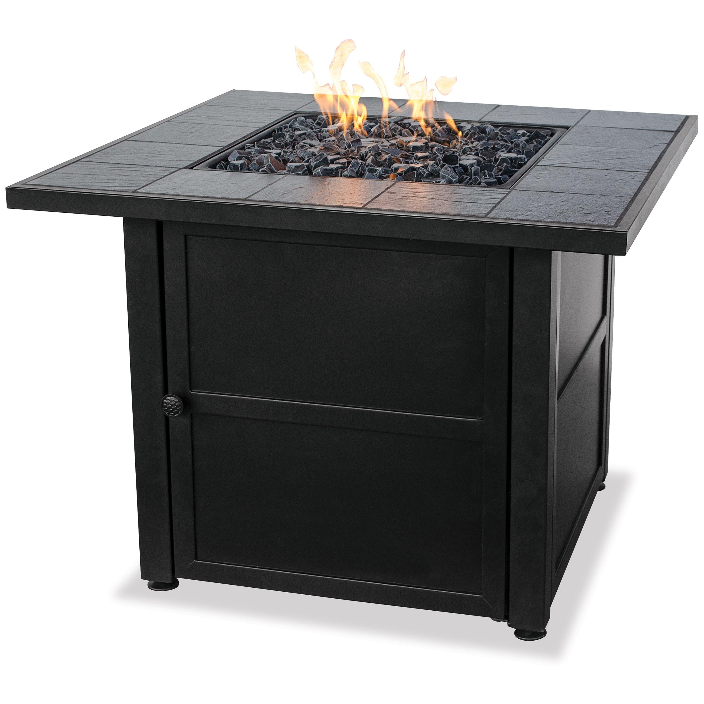 Chic Uniflame Ceramic Tile LP Gas Fire Pit Table propane patio fireplace