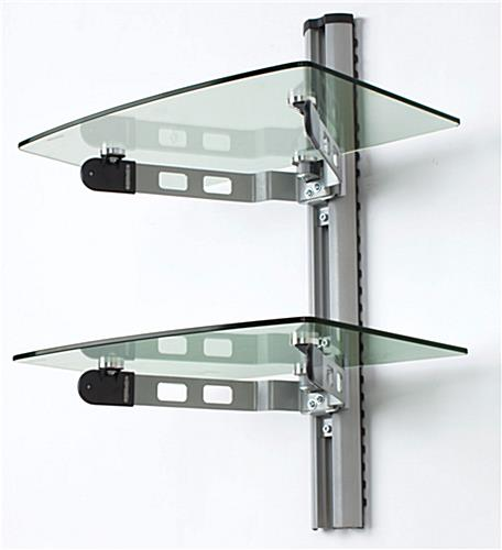 Chic wall mount glass shelves wall mount glass shelves ... wall mounted adjustable shelving
