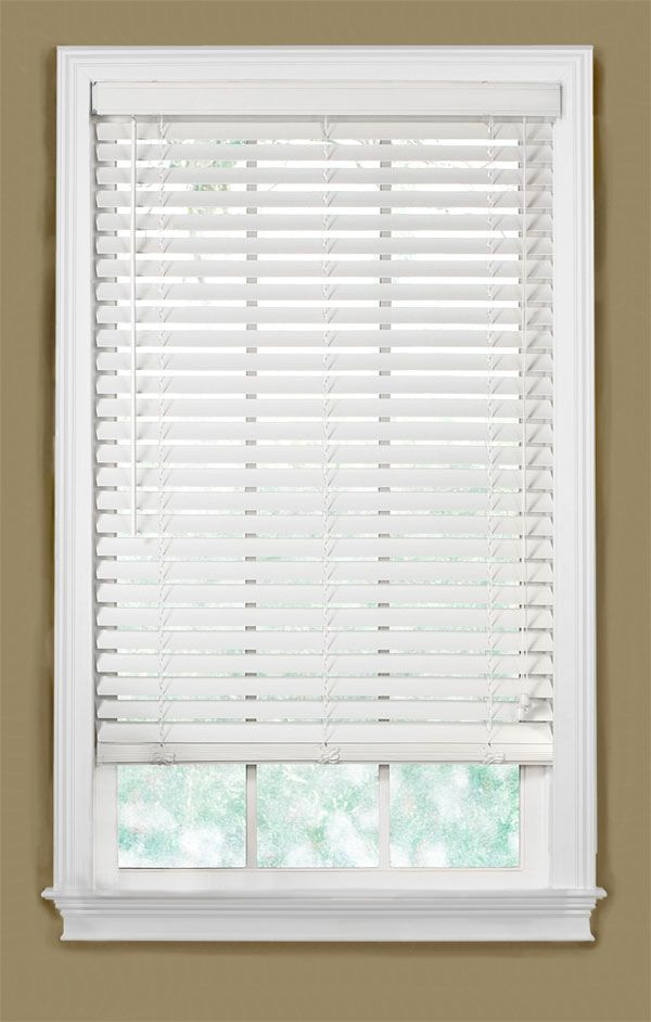 Chic white wooden blinds size 30 W and 54 H.....atleast two white wooden blinds