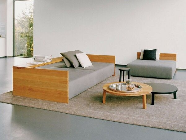 Chic wooden sofa set simple sofa design