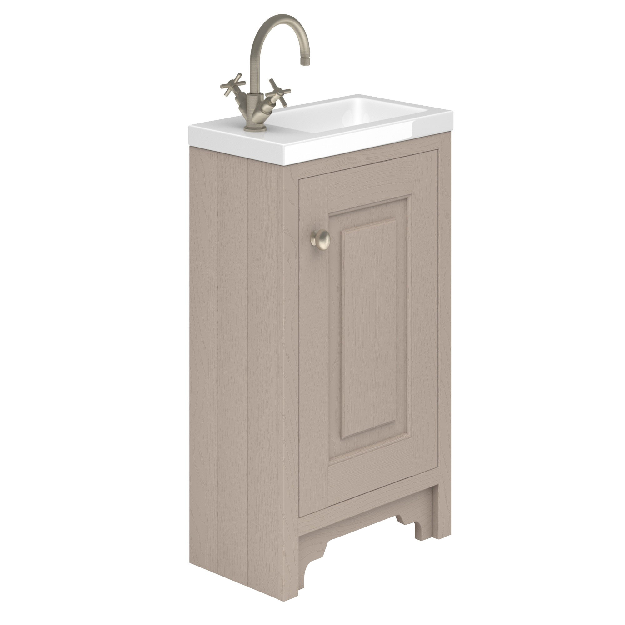 Best Off Slimline Cloakroom Oak Vanity Unit With Basin Bathroom Inspire cloakroom vanity unit