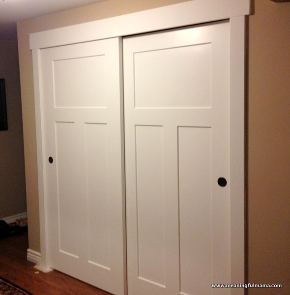 New Closet door makeover--Meaningful Mama: Day #349 - DIY closet sliding doors