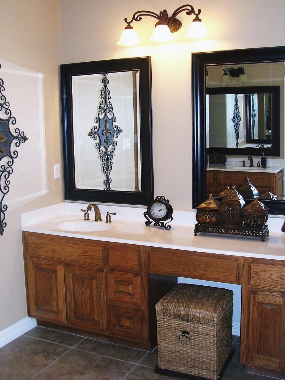 Compact 10 Beautiful Bathroom Mirrors | HGTV double vanity bathroom mirrors