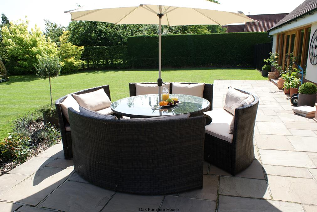 Compact Black Wicker Outdoor Furniture End rattan outdoor furniture clearance