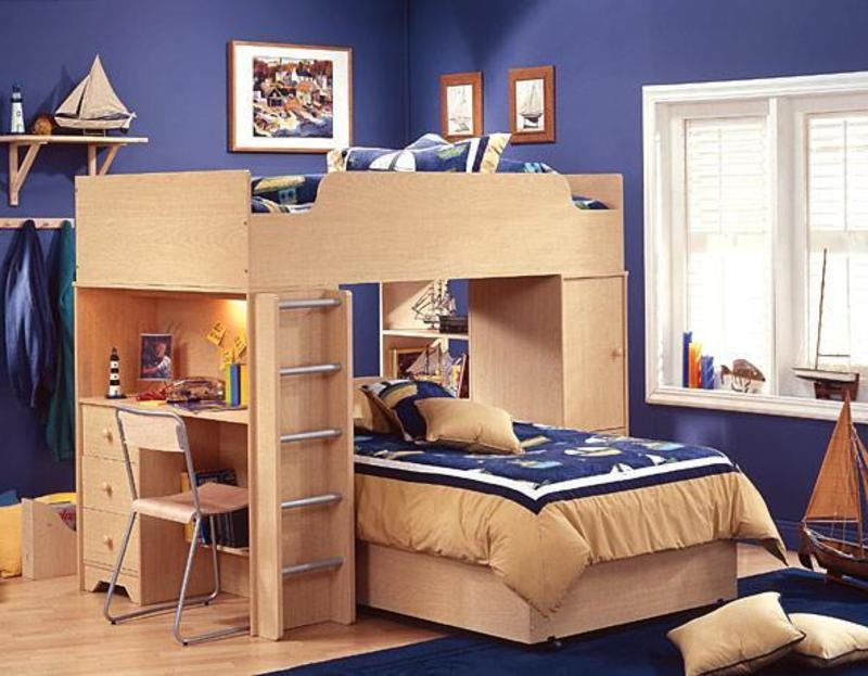 Compact Cheap Kids Bedroom Sets blue wall color with wood furniture material with youth bedroom sets with desk