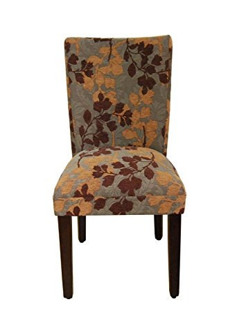 Compact Classic Parsons Chair Upholstery: Brown / Tan Leaf upholstered parsons chairs
