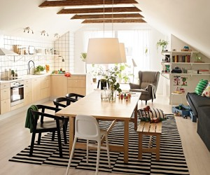 Compact Dining Room Designs · Scandinavian-style ... interior decoration of dining room